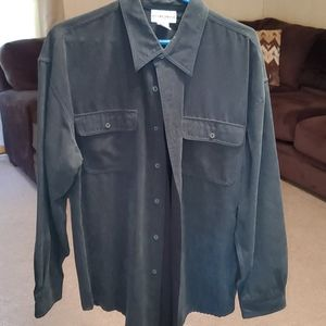 ❄EUC micro suede dress shirt